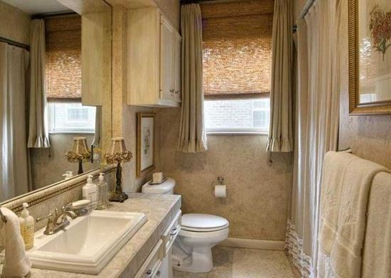 Picture of Drapery Bathroom D4BA0002