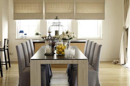 drapery dining room