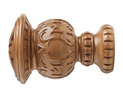 """Picture of Reign Finial For 3"""" Wood Drapery Rods"""