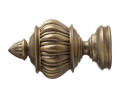 "Kirsch Armada Finial For 2"" Wood Drapery Rods"