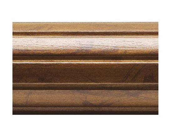 "Kirsch 4 Foot Fluted 2"" Wood Drapery Pole"