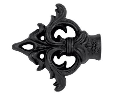 "Picture of Acanthus Arrow Finial For 1"" Wrought Iron Drapery Rods"