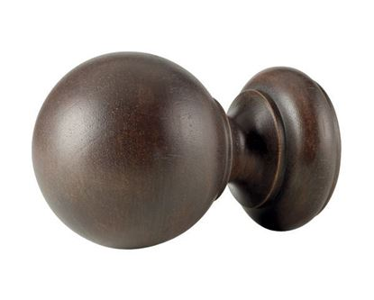 "Picture of Wood Ball Finial For 3"" Wood Drapery Poles"
