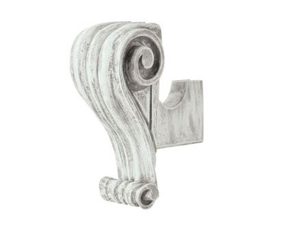 "Picture of Scroll Bracket For 1 3/8"" Or 2"" Wood Poles"