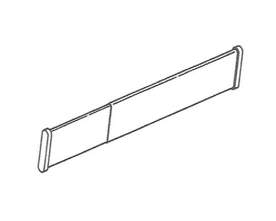 """Picture of 24-36"""" Continental II Spring Pressure Shower Rod"""