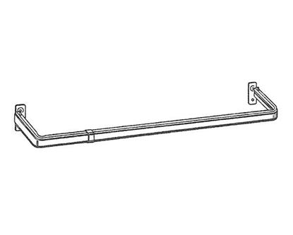 """Picture of 48-86"""" Lockseam Single Curtain Rod, 1 1/4"""" Clearance"""