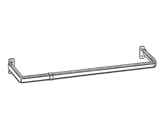 "Picture of 28-48"" Lockseam Single Curtain Rod, 4"" Clearance"