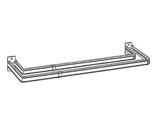 "Picture of 18-28"" Lockseam Double Curtain Rod, 2"" Clearance"