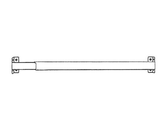 "Picture of 16-28"" Flat Sash Curtain Rod, 11/16"""