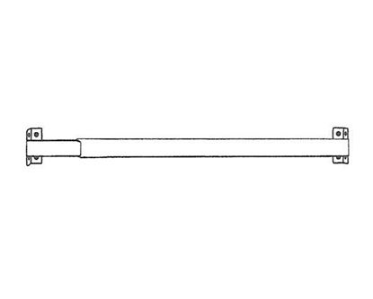 "Picture of 28-50"" Flat Sash Curtain Rod, 11/16"""