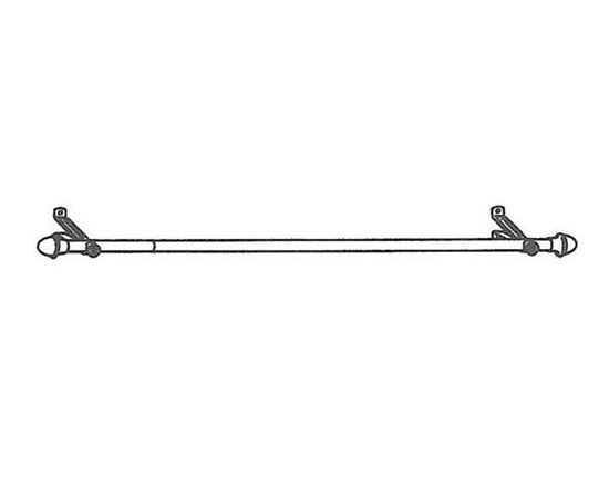 """Picture of 66-120"""" Cafe Curtain Rod, 13/16"""""""