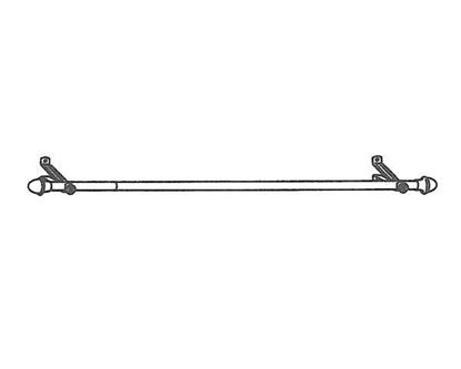 "Picture of 86-150"" Cafe Curtain Rod, 13/16"""