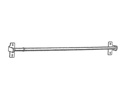 """Picture of 28-48"""" Round Sash Curtain Rod, 7/16"""""""