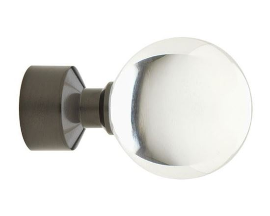 "Picture of Select Acrylic Ball Finial For 3/4"" Metal Drapery Rods"