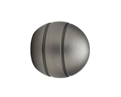 "Picture of Select Modern Ball Finial For 3/4"" Metal Drapery Rods"