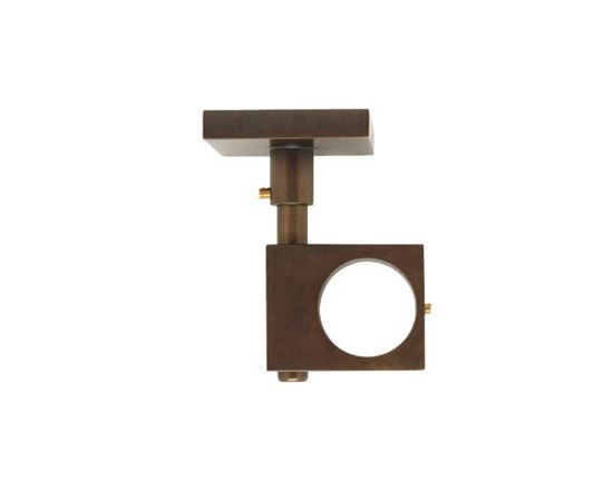 "Picture of Select 2 3/4"" Drop Square Ceiling Mount Bracket For 3/4"" Metal Drapery Rods"