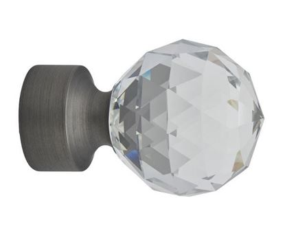 "Picture of Select Crystal Stella Finial For 1 3/16"" Diameter Acrylic Or Metal Drapery Rods"
