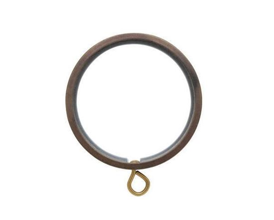 """Picture of Select Flat Ring With Liner For 1 3/16"""" Metal Drapery Rods"""